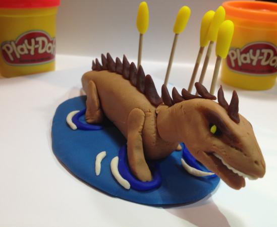 "Swimming ""Play-Doh""saurus by Andrew Krapsho"