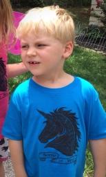 Science is Magic - Anatomical Unicorn Tee - Children's T-shirt in Cobalt